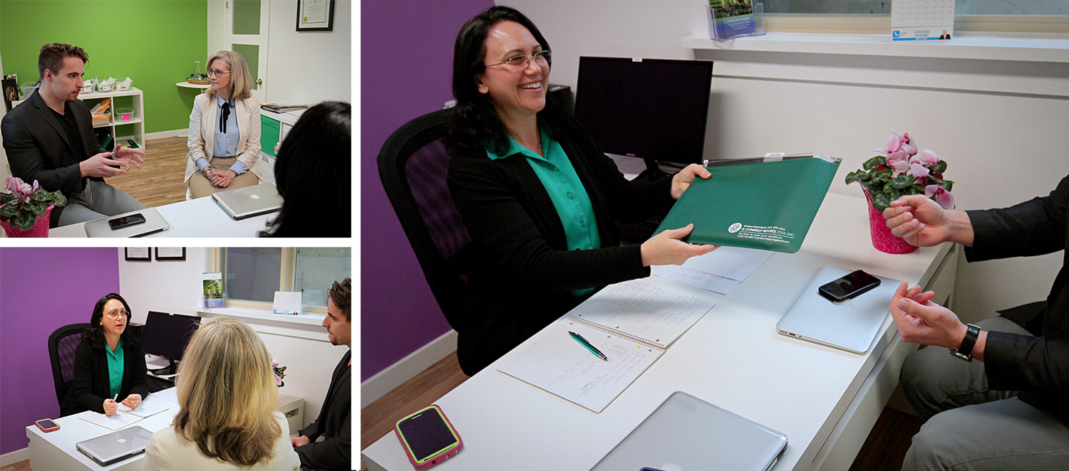 Gordana meeting clients - Bookkeeping, Accounting, and Tax Services